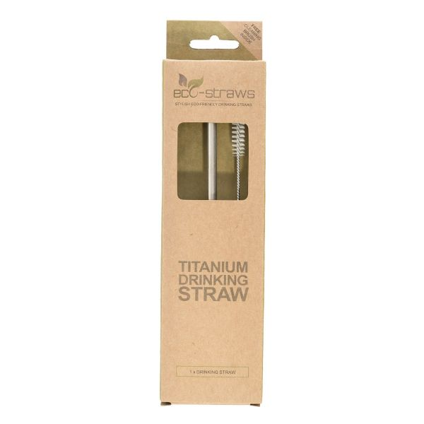 TITANIUM Drinking Straw (STRAIGHT)